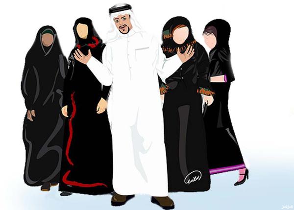 بالصور لماذا الشرع حلل اربع زوجات 2118 zawaj3