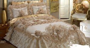 صوره اجمل مفارش سرير للعروسة بكل الالوان