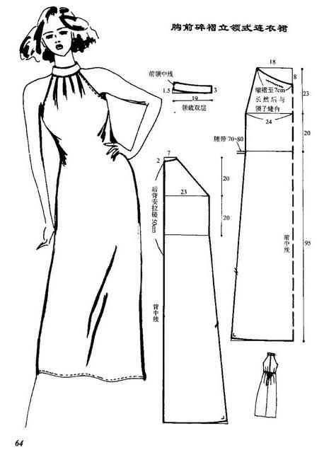 صوره باترونات مفصل لفساتين محجبات