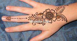 صورة رسم الحناء على اليد