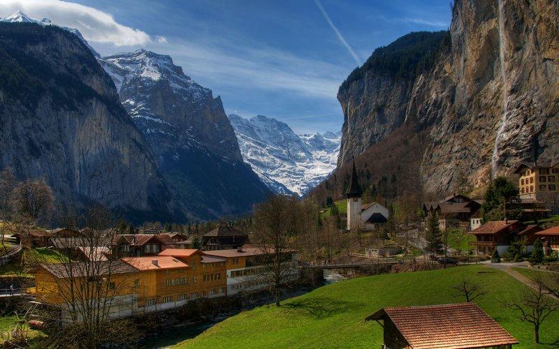 صوره قرية هايدي في سويسرا