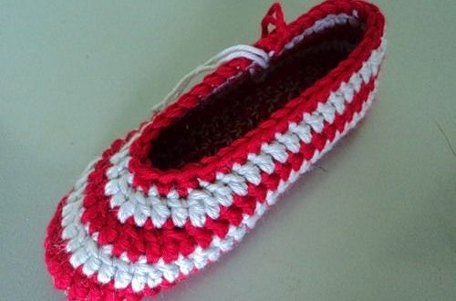 صوره طريقة عمل احذية بالكروشية للاطفال