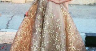 صورة موديلات فساتين واسعه للسمينات , صور فستان سهرة لبنوتات السمينة يجنن